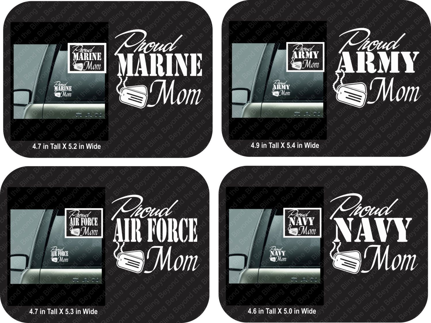 Proud Army Mom Car Decal Proud Air Force Mom Car Decal Proud - Military window decals for cars
