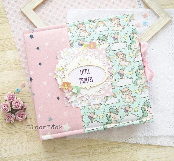 Personalized Baby Photo Album Girl Album Handmade Scrapbook Album