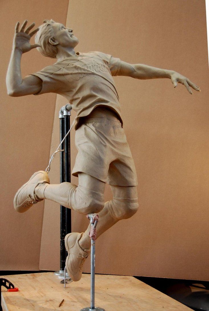 Stanford Men S Volleyball By Marknewman On Deviantart Inspirational Sculpture Human Sculpture Easy Clay Sculptures