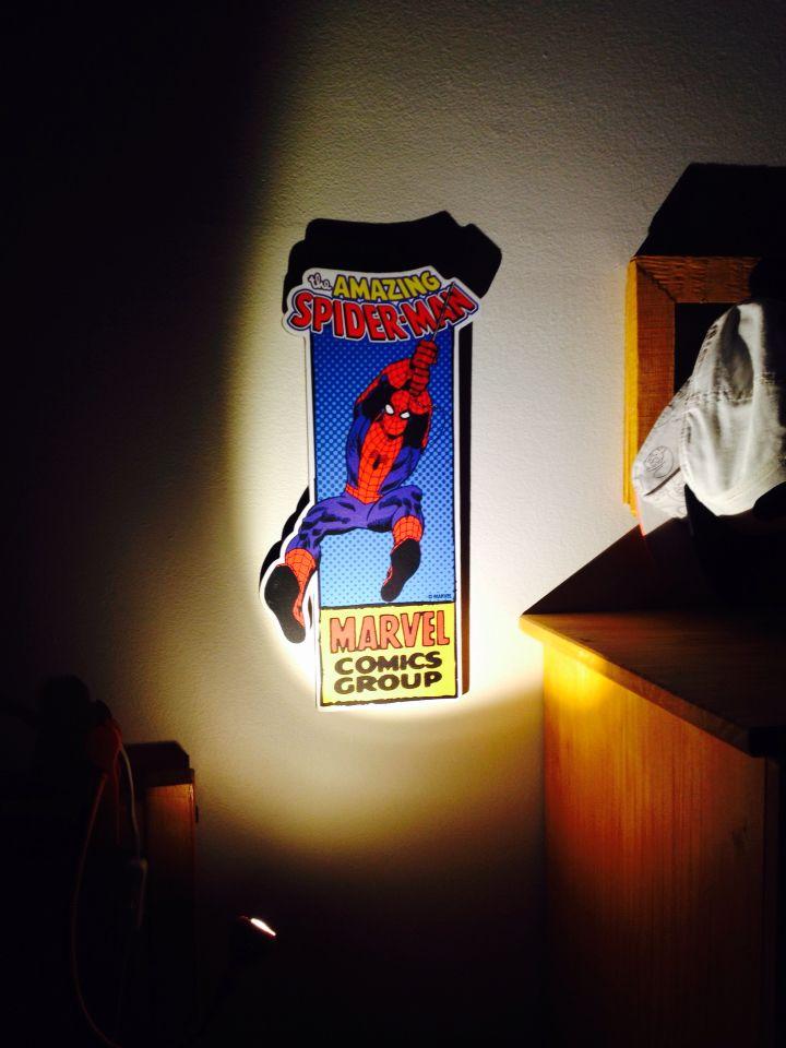 Spider-man woodsign deco