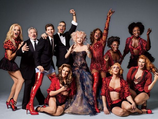 Cyndi lauper harvey fierstein and the cast of kinky boots for Kinky boots cyndi lauper