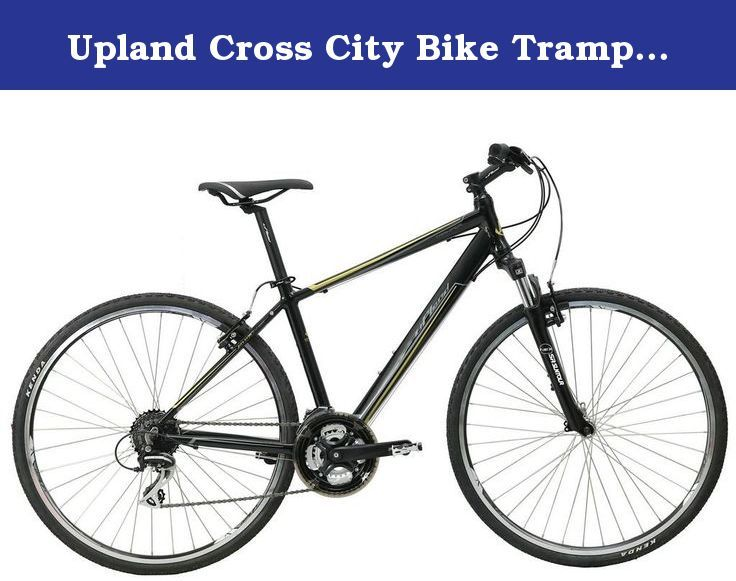 Upland Cross City Bike Tramper Men 700c Medium Black Speed 24s