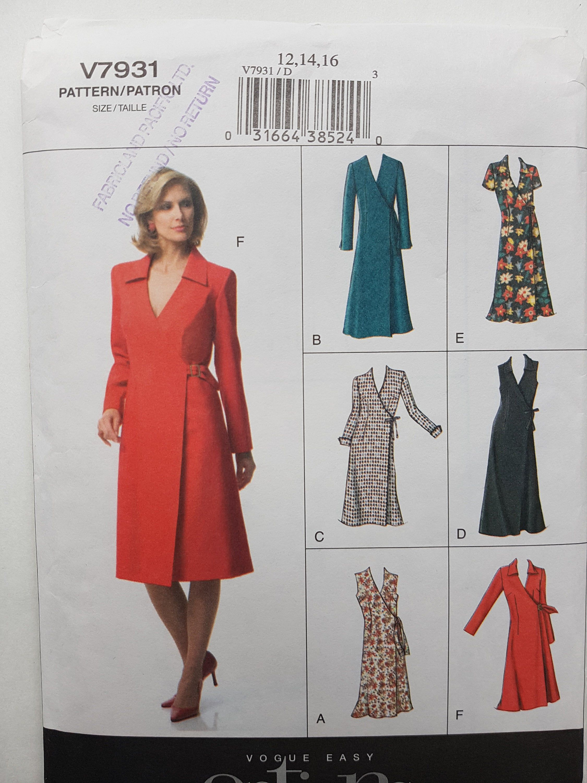 Wrap Dress Pattern Easy Sewing Pattern New Sewing Pattern Etsy Wrap Dress Pattern Wrap Dress Sewing Patterns Miss Dress [ 3000 x 2250 Pixel ]