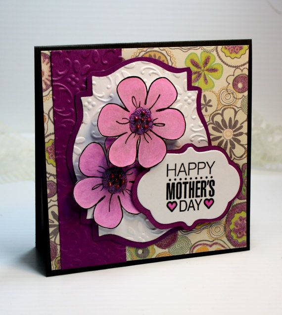 mother's day card handmade card greeting card 525 x