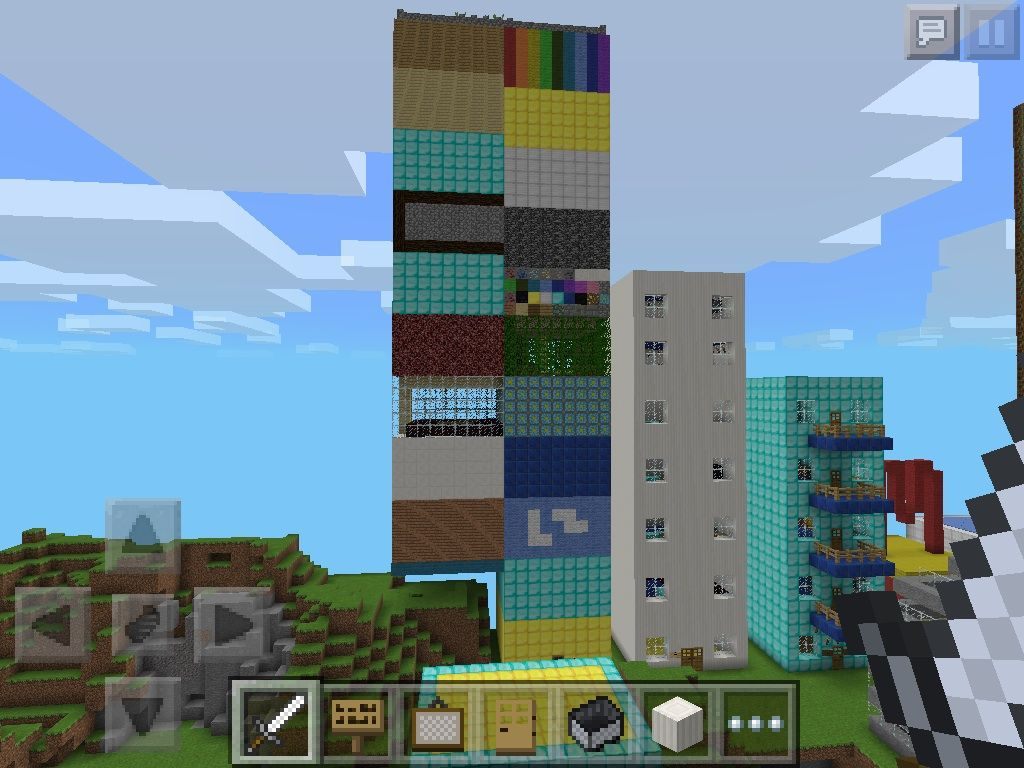 This is a minecraft pe house i made its a city in a house
