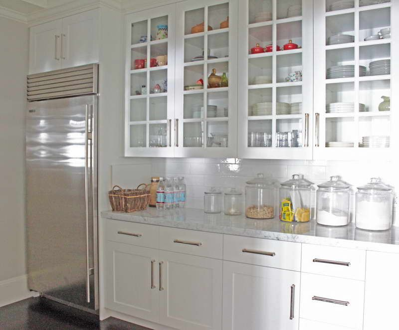 Peerless pantry cabinet glass doors with stainless steel for Walk in pantry cabinets