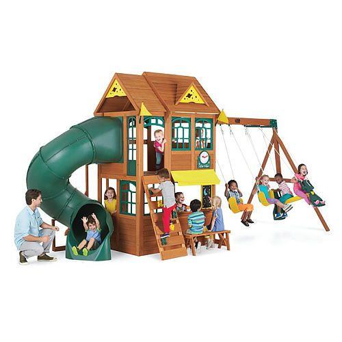 Big Backyard Premium Collection Summerlin Wood Swing Set Big