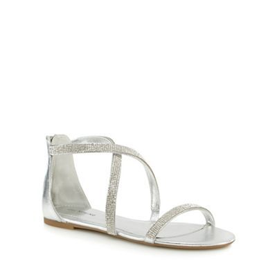 Call It Spring Silver Flat Sandals - Silver Call It Spring 9PdcmiY8B