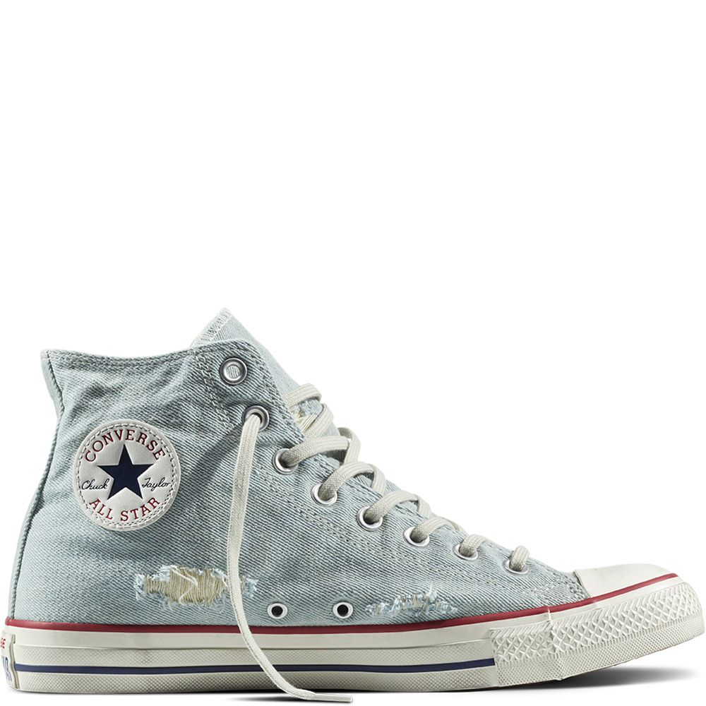 764def03f605 Chuck Taylor All Star Destroyed Denim Light Blue Garnet White light  blue garnet white