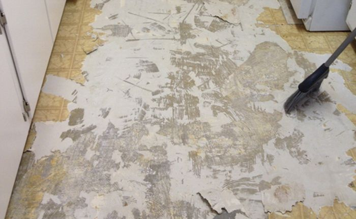 How To Easily Clean A Sticky Floor After Pulling Up Old Cheap Peel