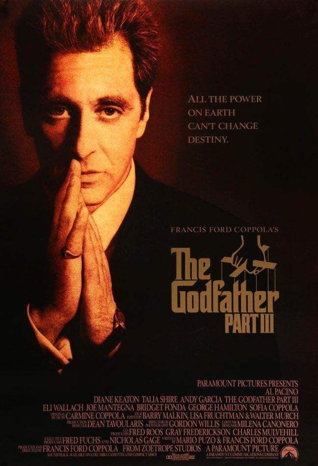 Godfather Part Iii 1990 The Godfather Movies Movie Posters