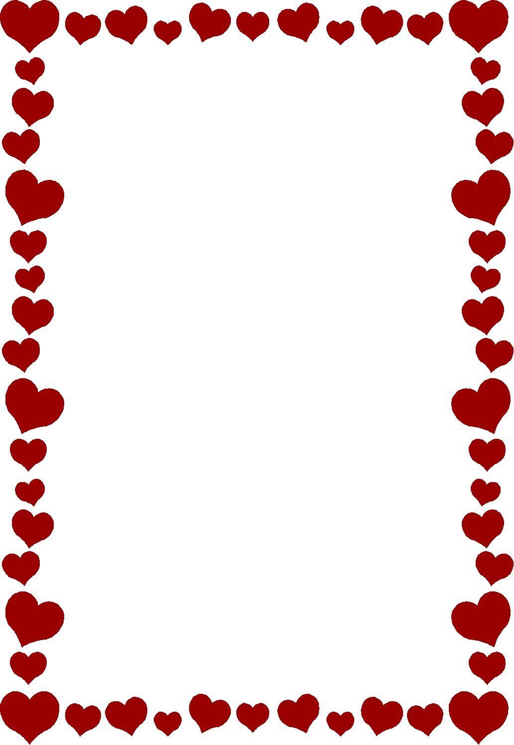 Epingle Par Pat Sur Saint Valentin Bordures De Page Bordures Et