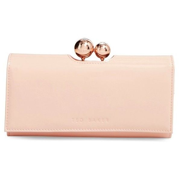 c19294b6ded93 Ted Baker London Pearlized Patent Leather Matinee Wallet ( 149) ❤ liked on  Polyvore featuring