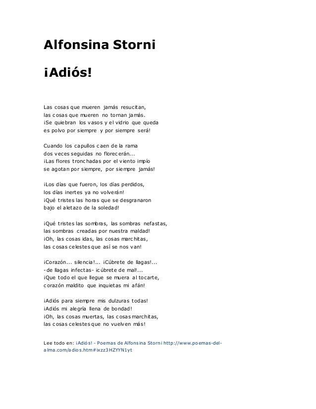 Alfonsina Storni Poemas Poemas Poemas Tristes Y Poemas