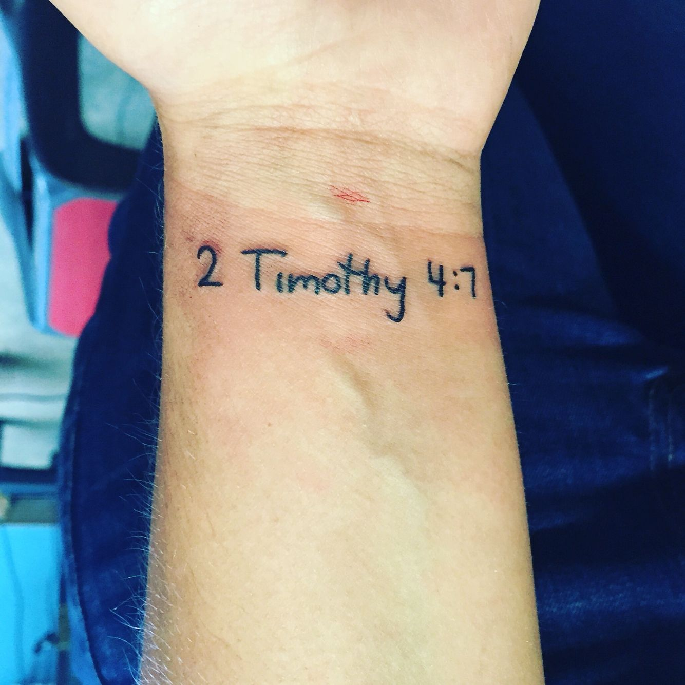 Newest Ink 2 Timothy 47 In My Moms Handwriting Tatted
