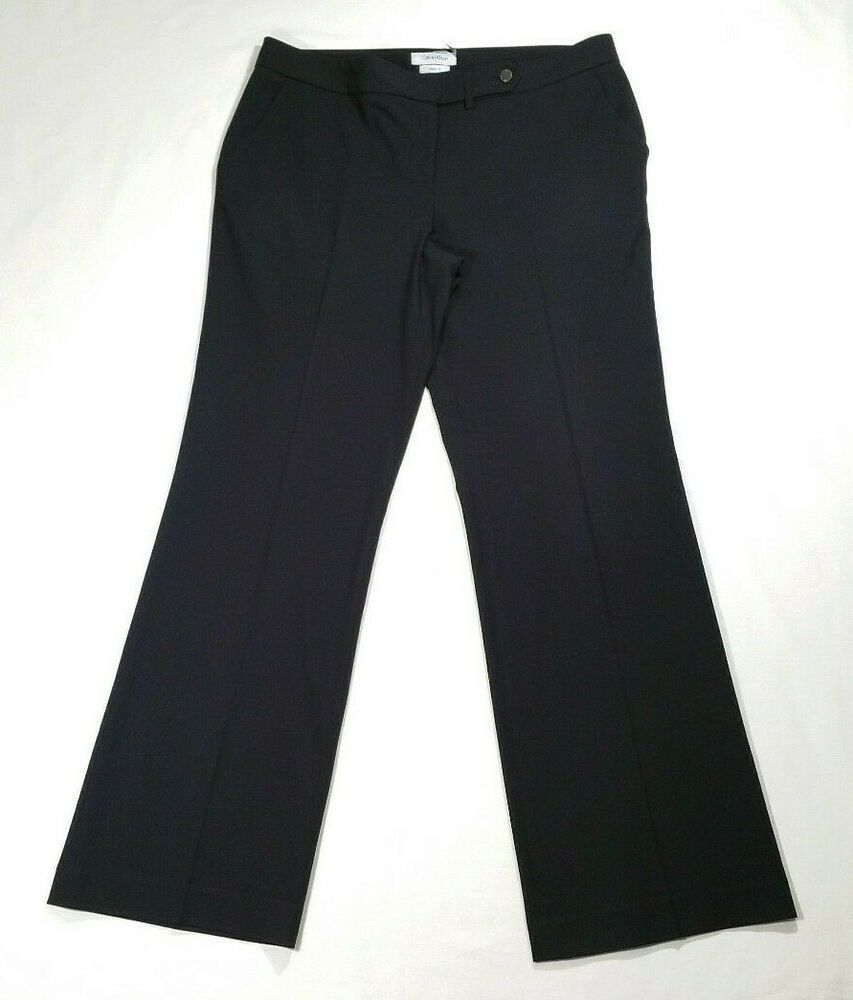 Calvin Klein Women Size 10 Black Dress Pants Trouser Slacks Classic Fit Mid Rise Calvinklein Dresspants Bus In 2021 Calvin Klein Women Black Dress Pants Dress Pants [ 1000 x 853 Pixel ]