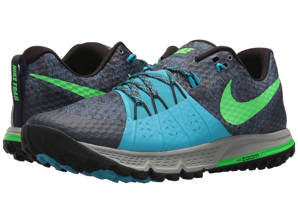 Nike Air Zoom Wildhorse 4 (Thunder Blue Rage Green Light Blue Fury) Men s  Running Shoes c17fc3c16