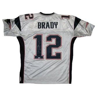 169dc58e Official New England Patriots ProShop - Autographed Tom Brady Authentic Away  Jersey