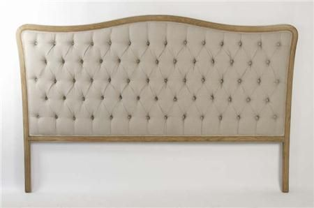 MAISON TUFTED HEADBOARD The Maison Tufted Headboard is made from an oak frame and complemented by linen fabric upholstery. This simple and sophisticated headboard is the epitome of French country and will look beautiful in any home.