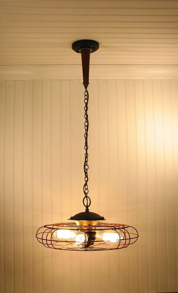 Vintage Fan Turned Light Fixture Amazing Unique Light
