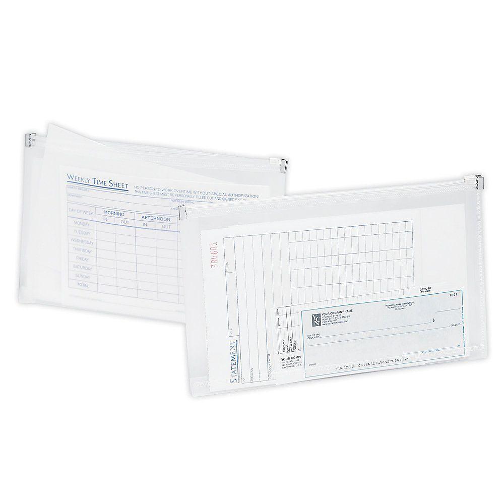 Office Depot Brand Transparent Zipper Envelopes Check; I