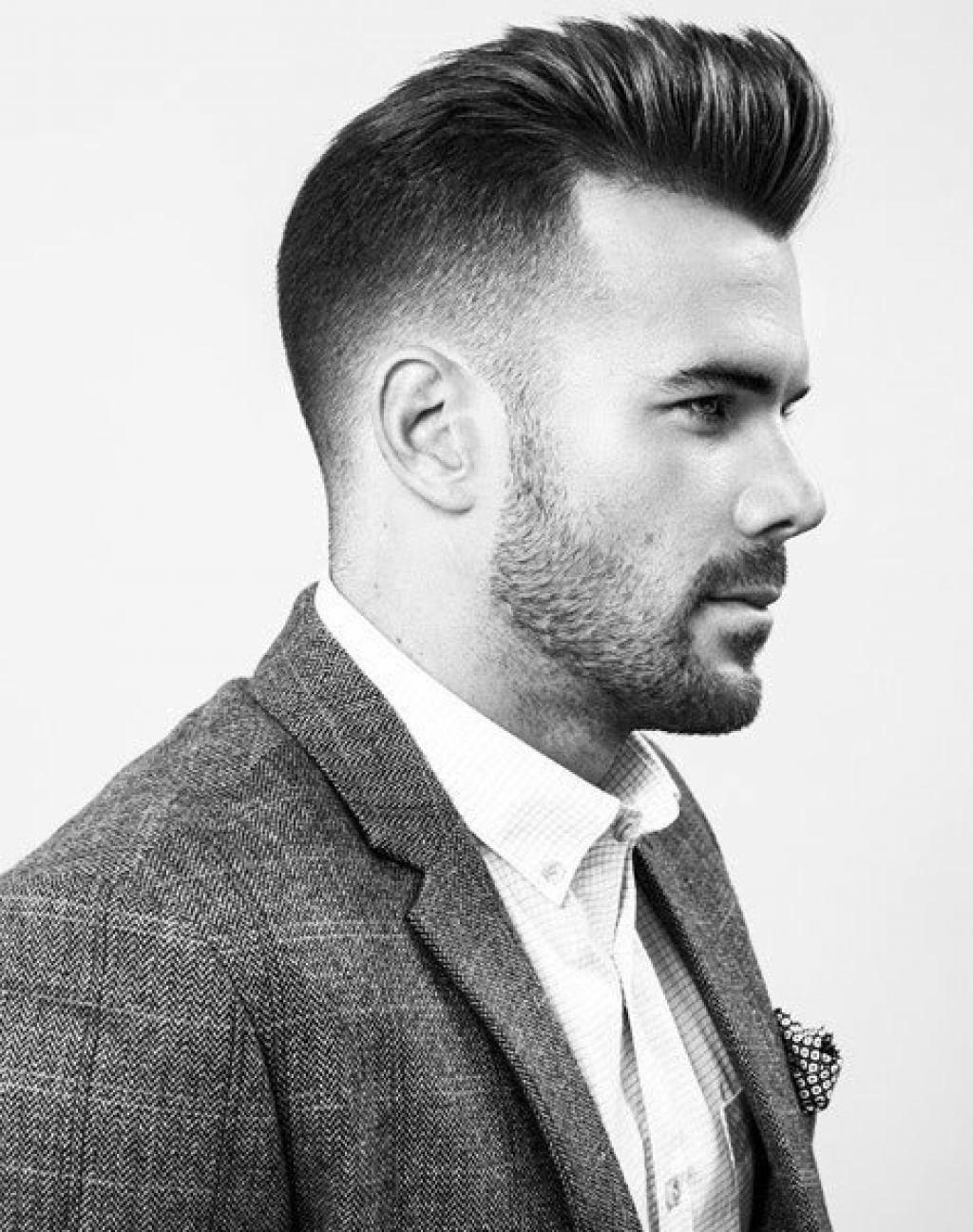 Modern pompadour beard - M Nner Kurzhaarfrisuren 2015 Undercut Ist Ein Trend Pompadour Cutmodern