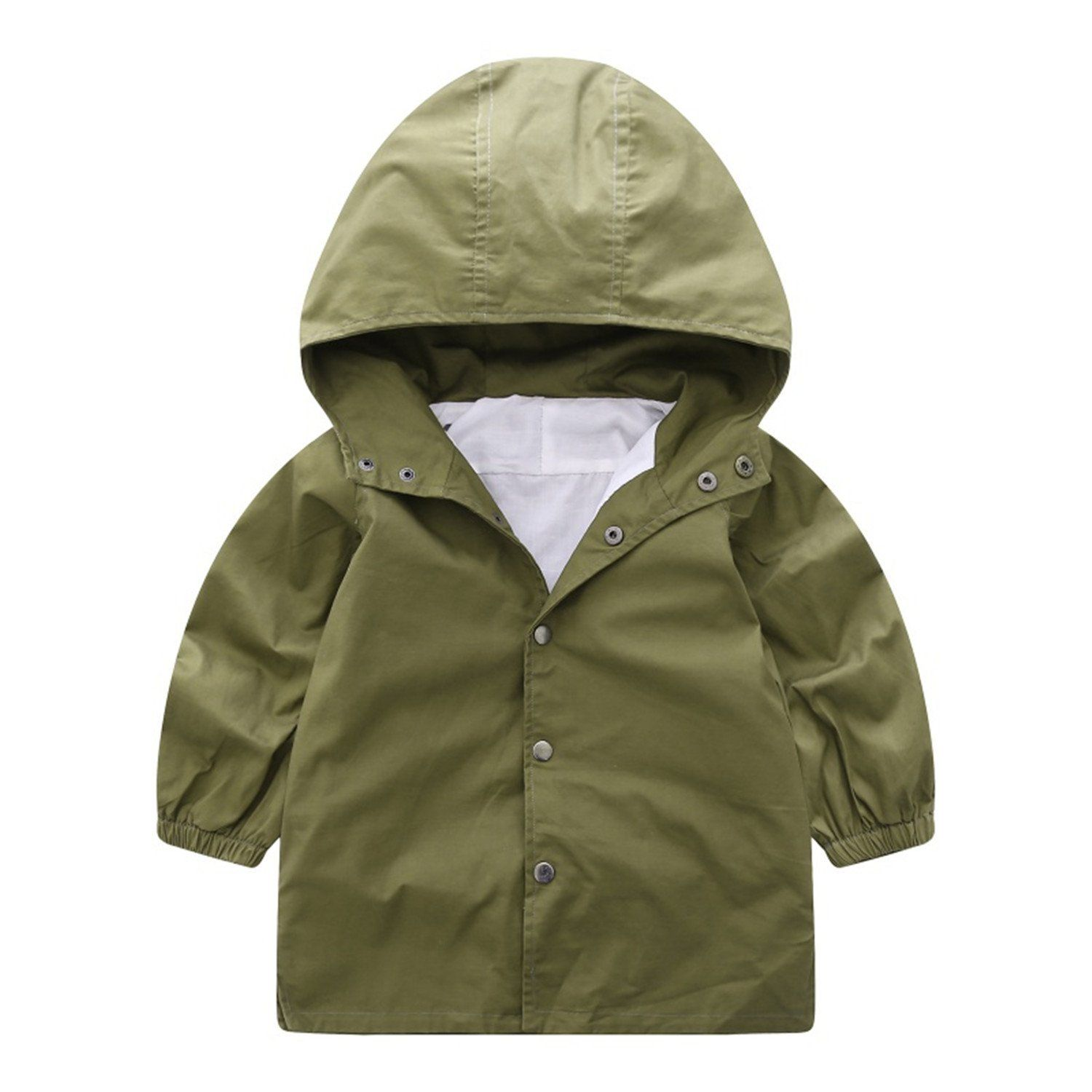 Felds Autumn Boy Casual New Army Green Jacket Windbreaker Coat Children Pure Colors Boy Clothes. Please choose 1-2 bigger size than your US SIZE because it is Asian size. it will keep warm comfortable and looking great. This coat is perfect for the cool chilly days in the winter or Autumn. Hand-wash and Machine washable. Whether for your little boy or nephew,this coat will make a great birthday gift.