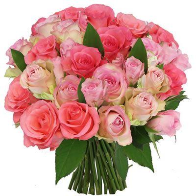 Intensement Rose Florajet Com Bouquet De Roses Fleurs Et