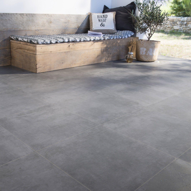 Beton Cire Exterieur Avis carrelage sol et mur anthracite aspect carreau de ciment l