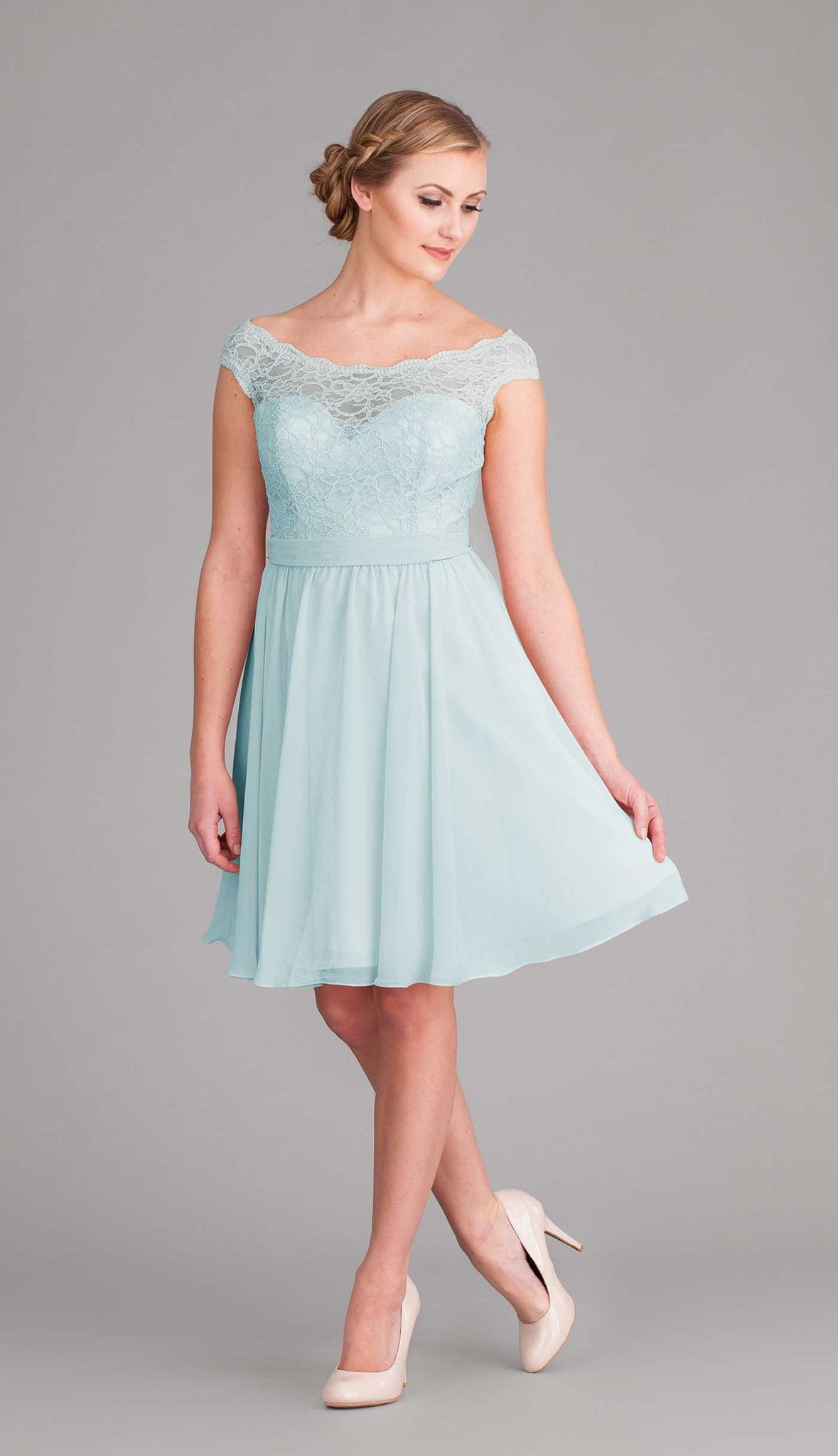 Brynn | Chiffon bridesmaid dresses, Lace top bridesmaid dresses and ...