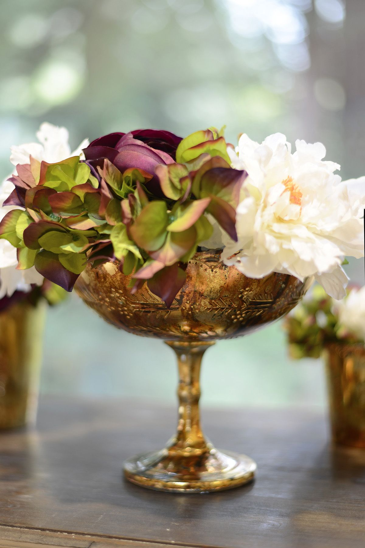 Glass compote desiray 8x7in gold wedding short centerpieces and centerpieces reviewsmspy