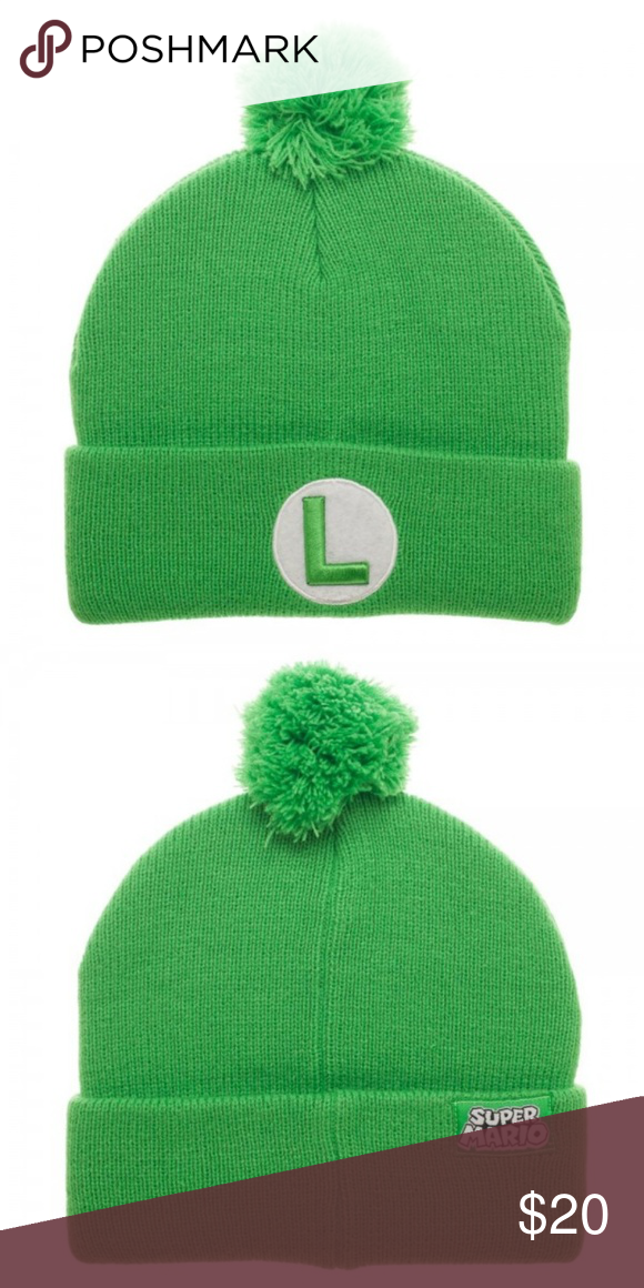 718cc47fca7 Luigi - Super Mario Brothers Beanie Hat NINTENDO This is for 1 Officially  Licensed Nintendo Super Mario Brothers Beanie Hat. This is a very nice knit  beanie ...