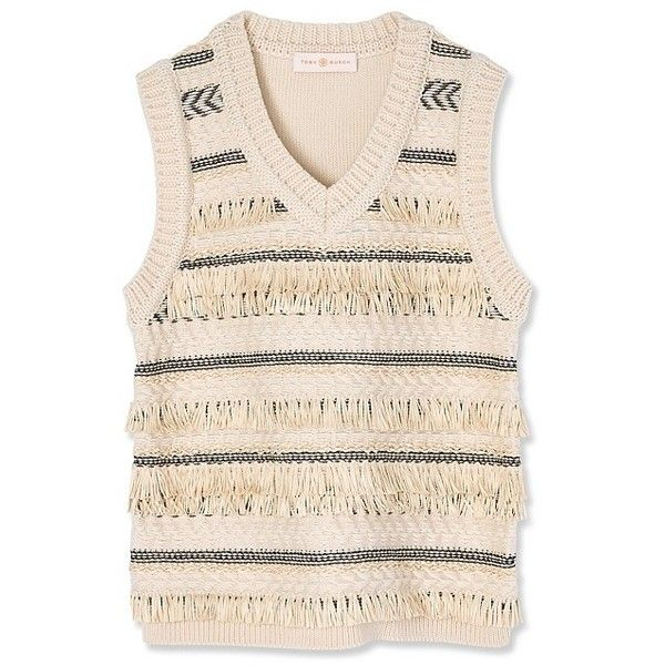 Tory Burch Jacquard Sweater Vest (26.495 RUB) ❤ liked on Polyvore ...