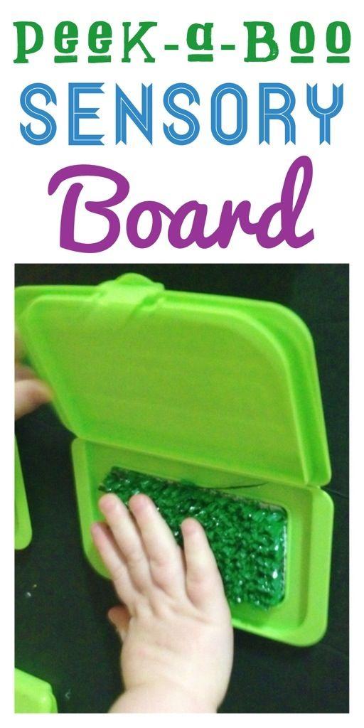 Peek-a-Boo Sensory Board | Motherhood And Other Adventures on