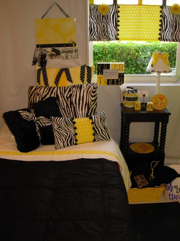 Black Amp Yellow Stonehill College Dorm For The Teenager
