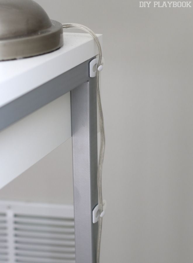 Do It Yourself Home Design: How To Hide Desk Cords