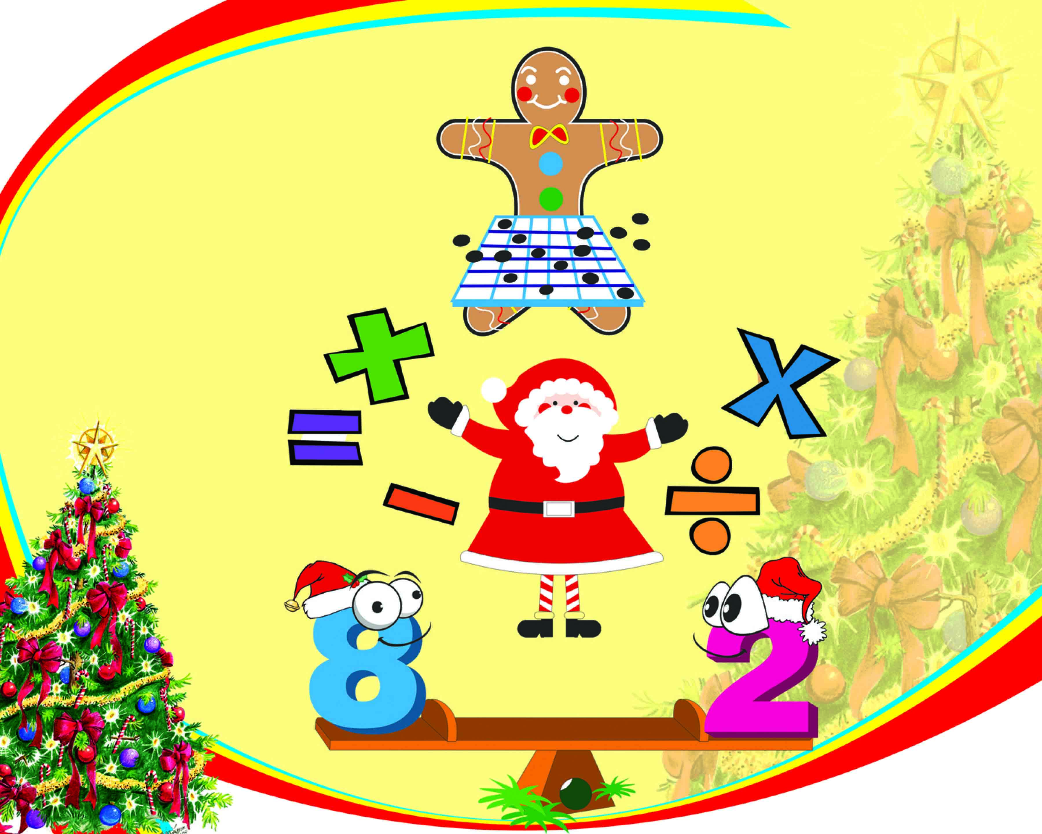 happy numbers: christmas clipart pack {math clipart} | math clipart
