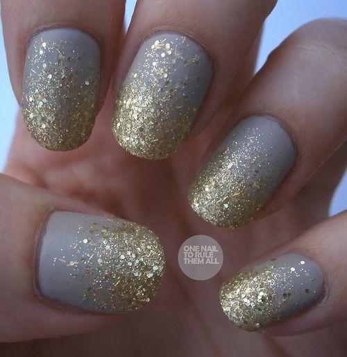 Nail Art Tumblr Nails Pinterest Glitter Nails Gold Sparkle