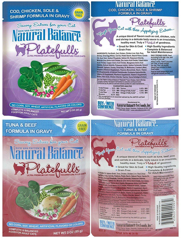 Natural balance grainfree platefulls indoor and regular