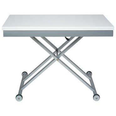 Nice Table Rectangulaire A Hauteur Et Largeur Ajustable Lift Coloris Blanc Conforama Check More At Http Casadecoration Com Shop C Folding Table Table Decor