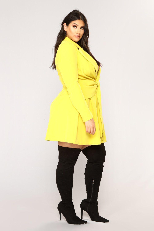 Sugar Daddy Blazer Dress Yellow In 2018 Latecia 7 Pinterest