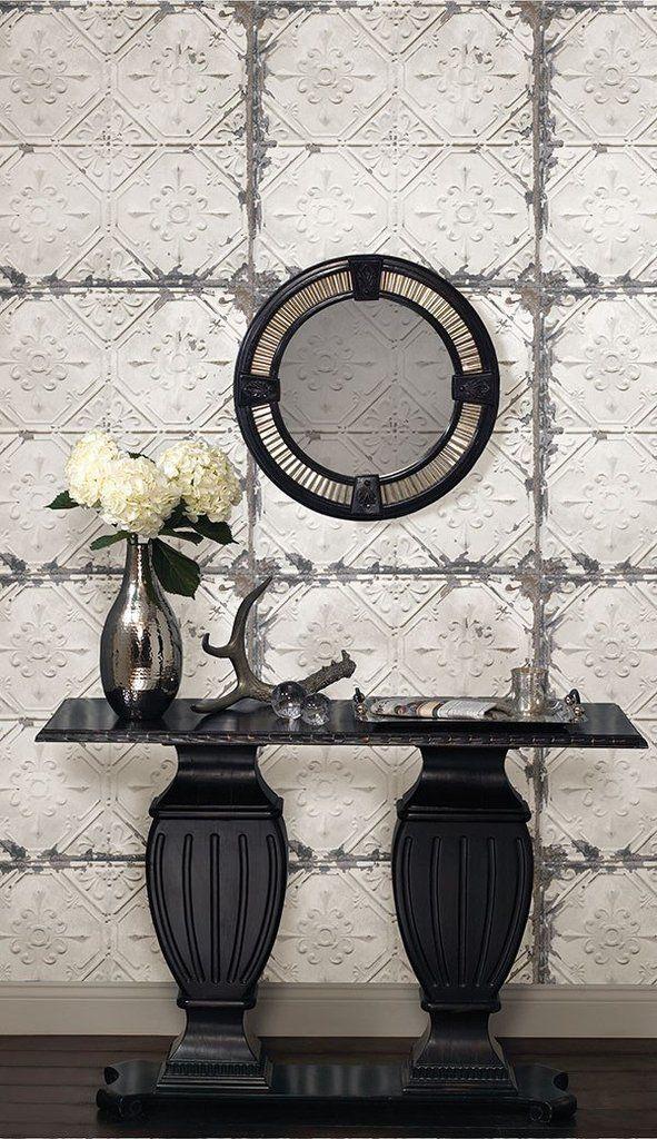 Vintage Tin Tile Peel And Stick Wallpaper Tin Tiles