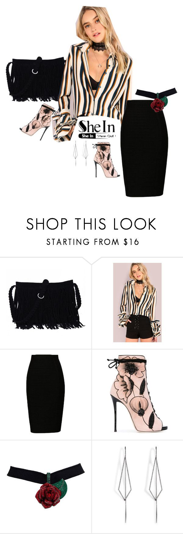"""Be real"" by rosecool ❤ liked on Polyvore featuring Giuseppe Zanotti and Diane Kordas"