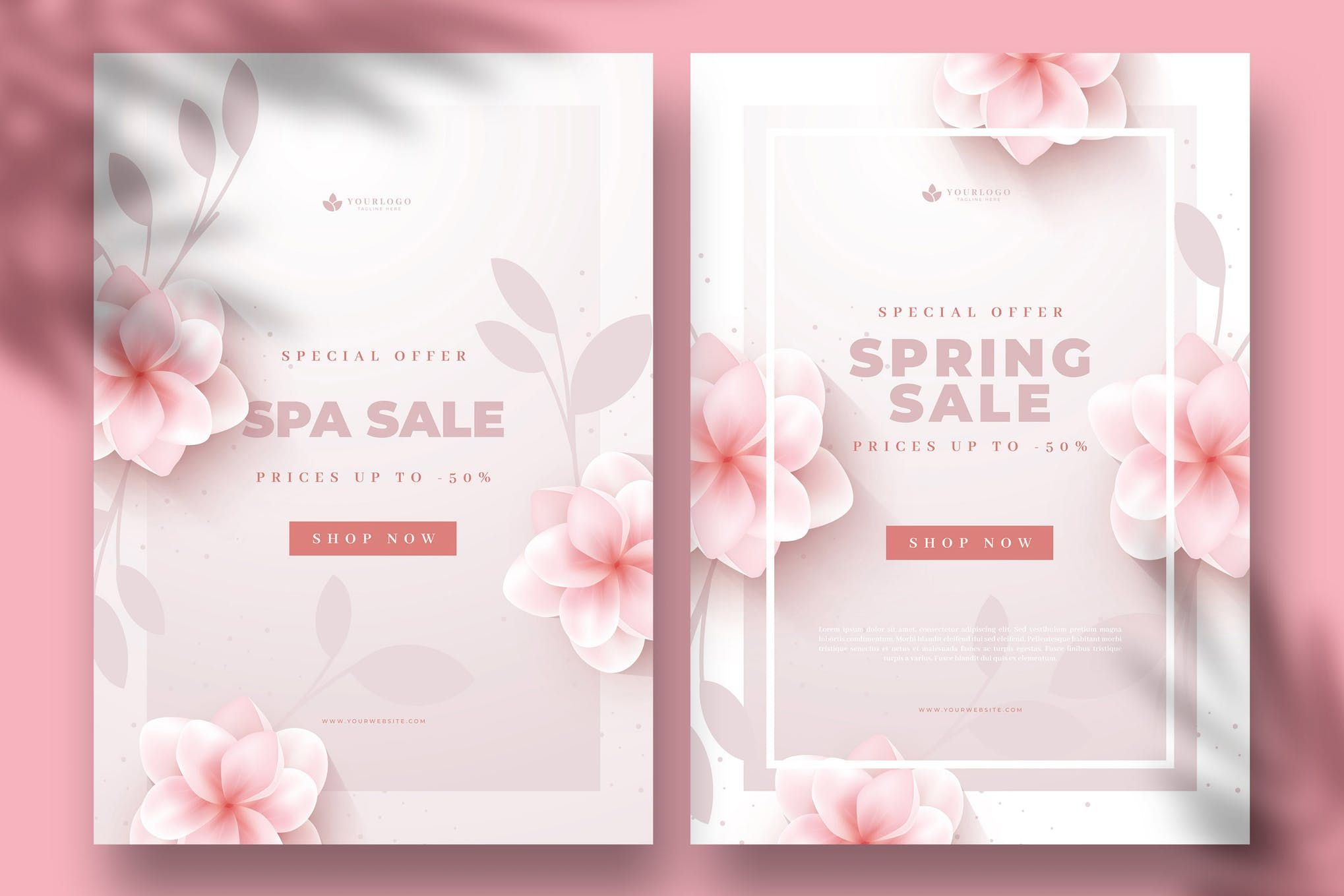 Modern Sales Flyers Design With Flowers In 2020 Sale Flyer Flyer Design Flyer