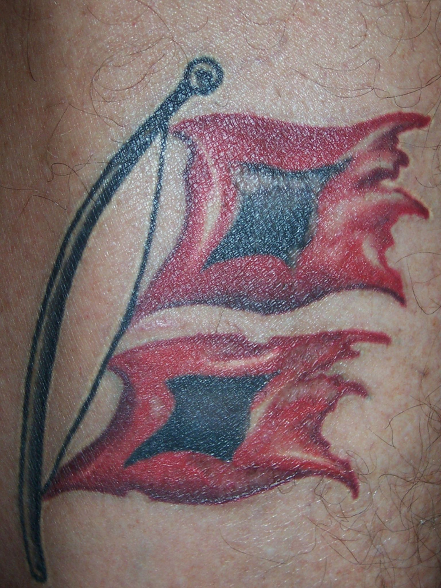 Pin By Ben Merkel On Tattoos Flag Tattoo Tattoos Hurricane Flag