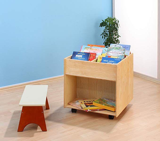 Unbekannt Flexeo 85622 Bücherregal Buchmobil Holz auf