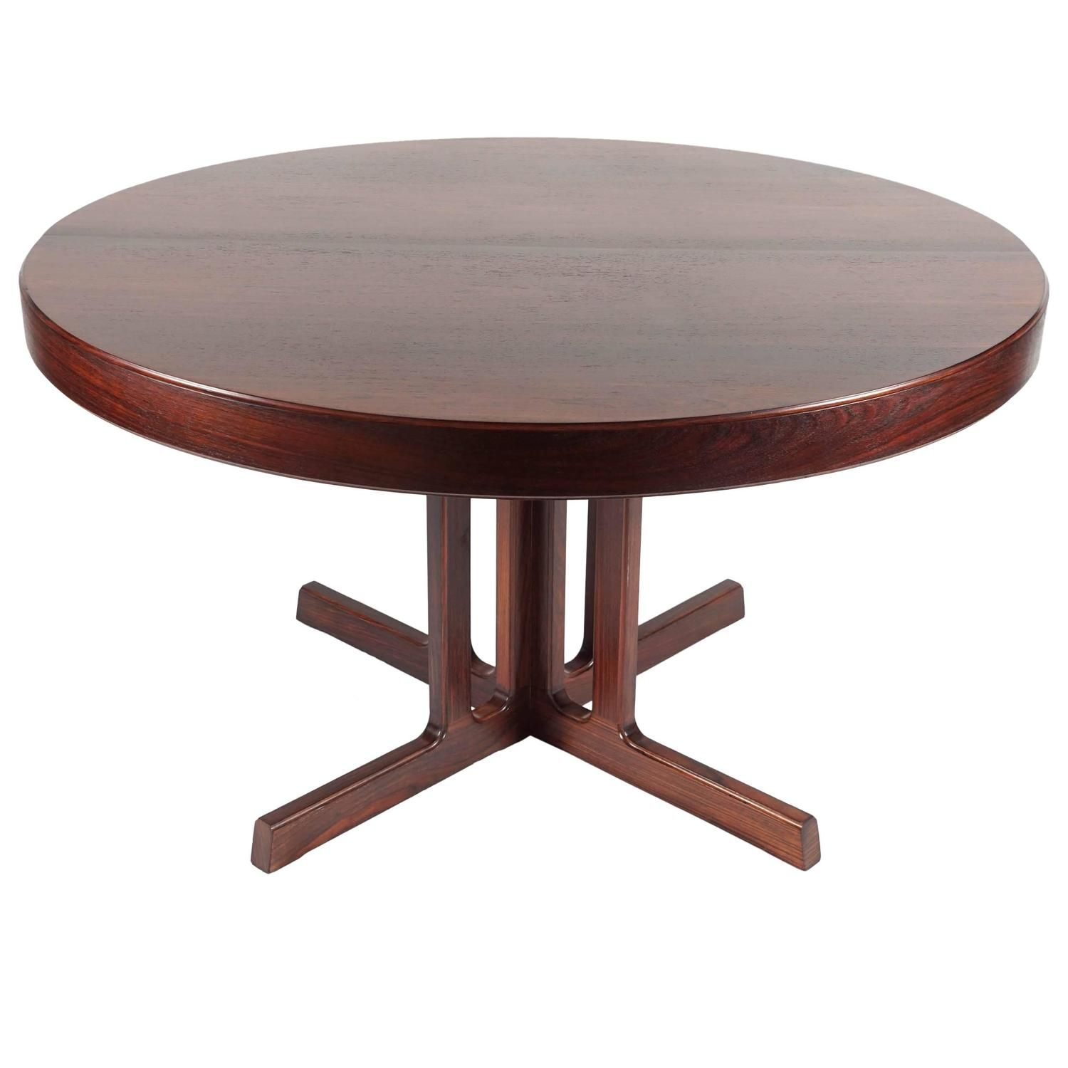 Mid Century Rosewood Dining Table From A Unique Collection Of Antique And Modern Room Tables At