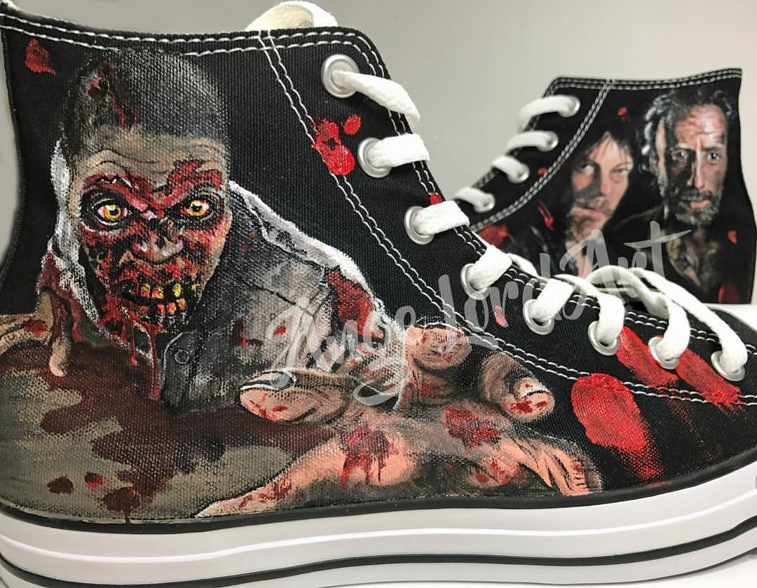 02a5ece1f2cd Pin by Ange Lord Art Custom Shoes   Apparel on Walking Dead inspired ...