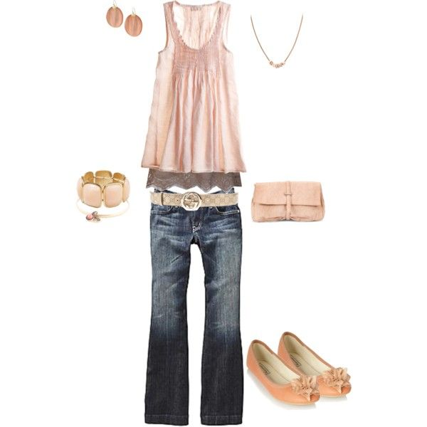 Spring Peach, created by heather-rolin.polyvore.com