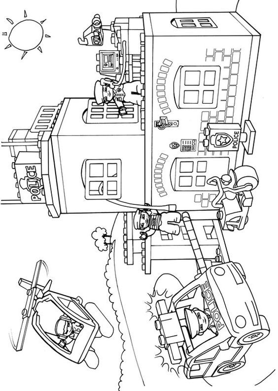 Lego Duplo Coloring Pages 8 Lego Police Coloring Pages